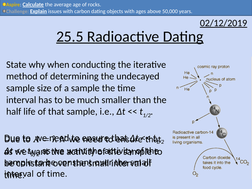why is carbon 14 useful in radioactive dating and not nuclear medicine