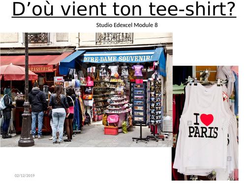 D'ou vient ton tee-shirt? Studio French Edexcel Module 8