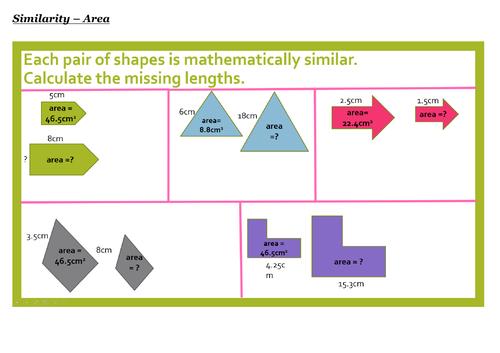 GCSE Maths (9-1) Similar-Shapes - Full Lesson PPT