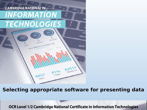 6.2 - Cambridge Nationals in Information Technologies - Software for information presentation