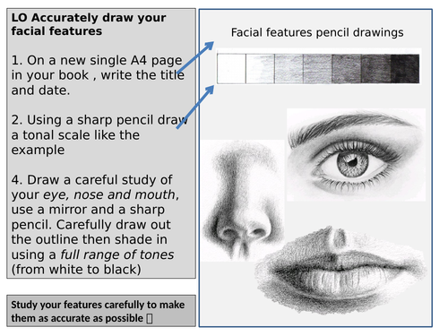 Cover lesson task-drawing facial features