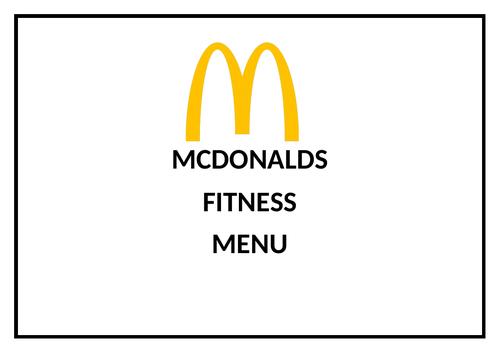 Mcdonalds calorie burner FITNESS