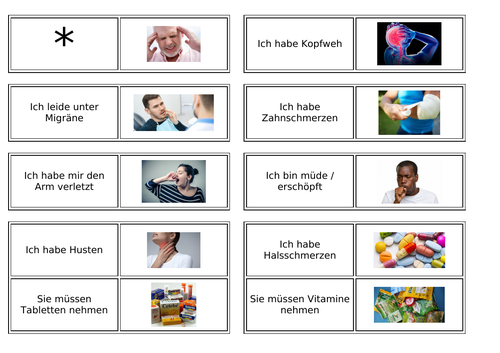 Illness / Injury / Treatment / Doctor / Pharmacy / Krankheit / Arzt / Apotheke