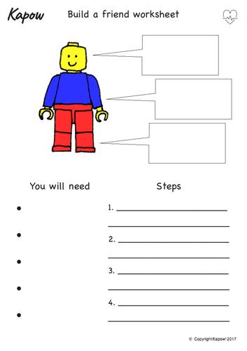 Build a Friend PSHE Worksheet