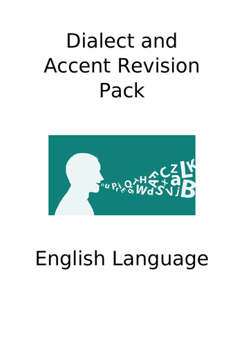 A Level English Language (AQA) Language Diversity: dialect and accent revision pack