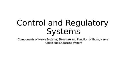 LO5: Control and Regulatory Systems, Malfunctions and Impacts on Individuals