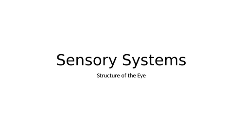 LO6: Sensory Systems, Malfunctions and Impacts on Individuals