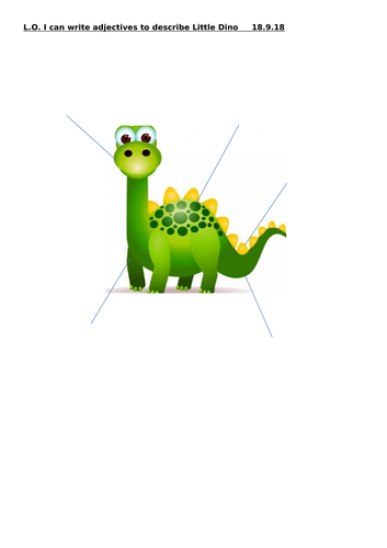 The Little Dino talk for writing story and resources