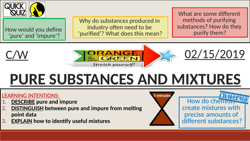 KS4 New GCSE (9-1) - Pure Substances and Mixtures (AQA C12.1 Chemical Analysis)