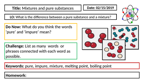 KS3 Chemistry - Mixtures and Pure substances