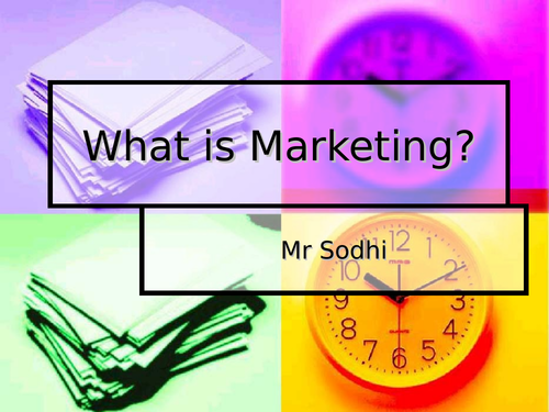 Marketing, What is it?