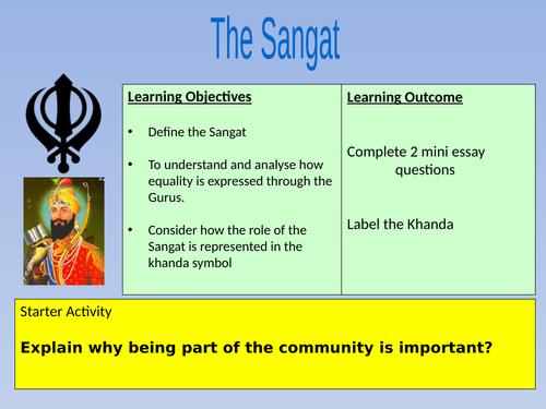 The Sangat AQA Sikhism