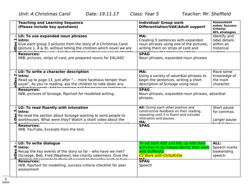 A Christmas Carol - Year 5/6