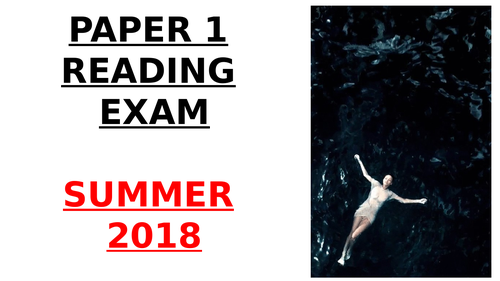 EDUQAS GCSE English Language Paper 1 June 2018 exam model answer PowerPoint (with examiner podcast)