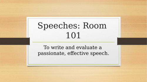 Speaking and listening - Room 101 lesson (Metacognition approach)