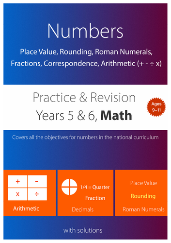 NUMBERS - Place Value, Fraction, Correspondence, Arithmetic, Roman Numerals (upper KS2)