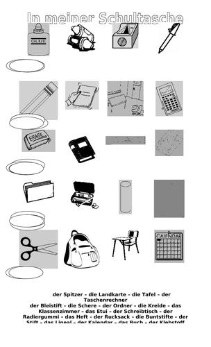 School objects / School equipment