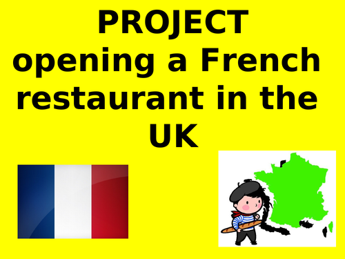 ICT Project French- Mon restaurant - My restaurant