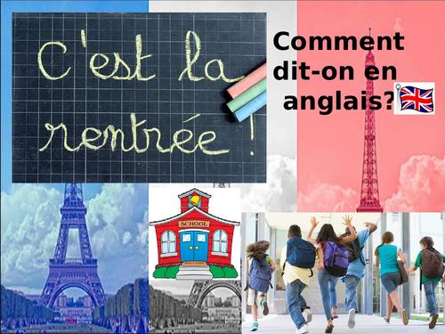 Classroom language - French