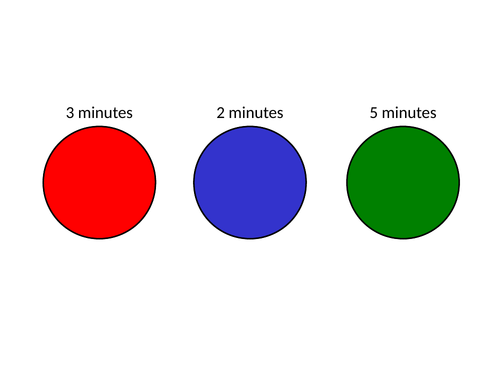 2, 3 and 5 Minute Timers - Cut and Paste