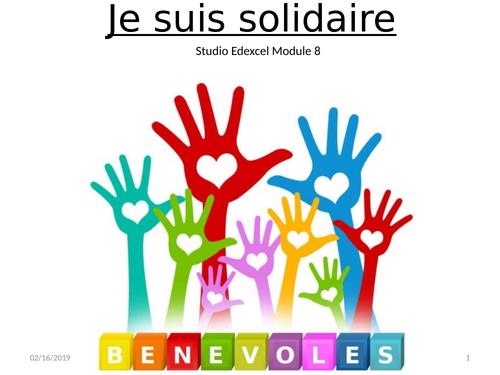 GCSE French Studio Module 8 Je suis solidaire