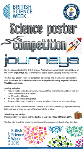 British Science Week 2019 Poster Competition promotion