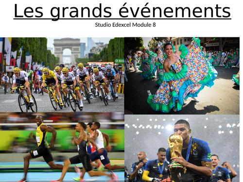 GCSE French Studio Module 8 Les grands événements