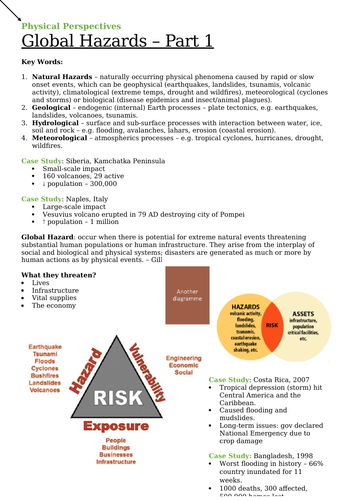 Global Hazards - Revision Notes