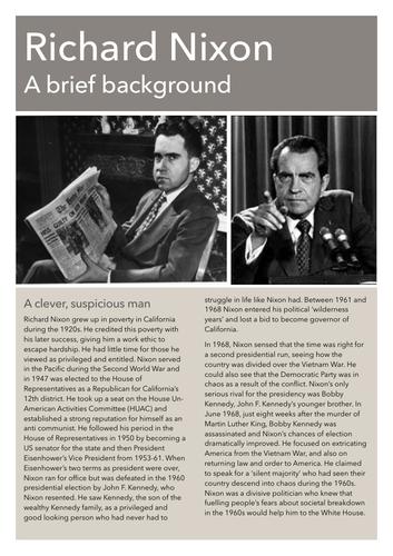 Richard Nixon Factfile (1947-68)