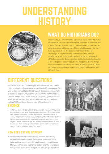 Super simple understanding history notes for lower ability learners