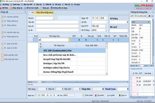 Phần mềm quản lý nhà thuốc GPP