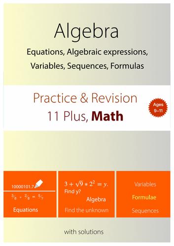 11+ Math Practice : Algebra