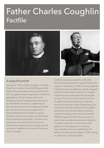 New Deal Factfile: Father Charles Coughlin