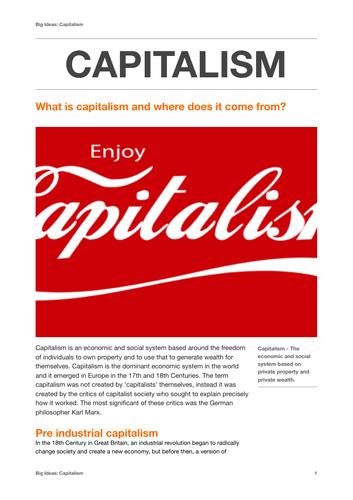 Big Ideas: Capitalism (study guide)