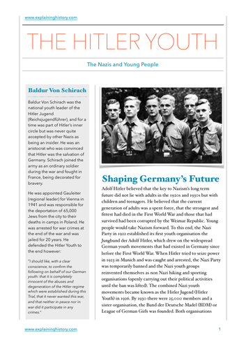 Hitler Youth Study Guide