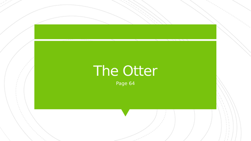 The Otter - Heaney - AS Level lang/lit