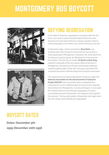 Super Simple Fact File: Rosa Parks and the Montgomery Bus Boycott