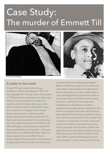Case Study: The Murder of Emmett Till