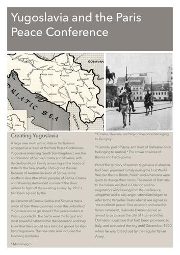 Creating Yugoslavia 1919