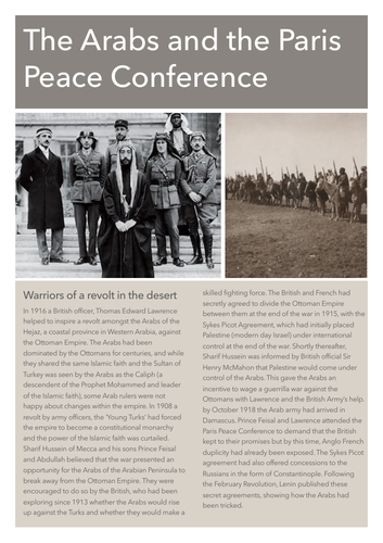 The Arabs and the Paris Peace Conference 1919