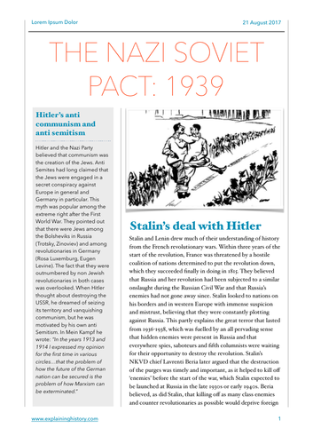 The Nazi Soviet Pact Study Guide