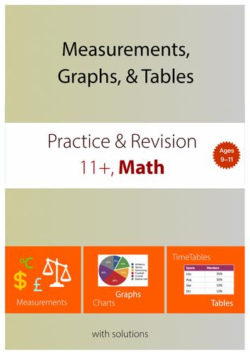 11+ Math Practice : Measurement, Graphs, & Tables