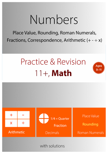 11+ Math Practice : Numbers