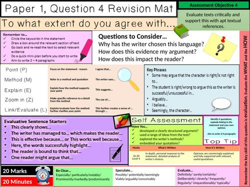 AQA English Language Paper 1 Question 4