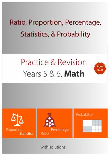 11+ Math Practice : Ratio, Proportion, Percentage,  Statistics, & Probability
