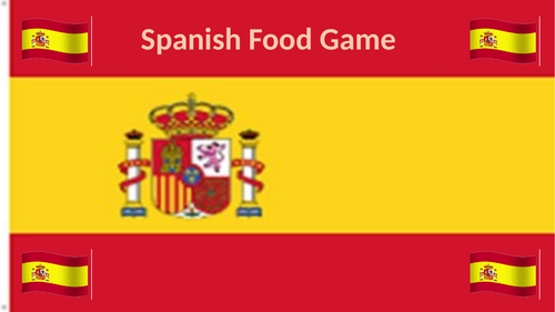 Spanish Food and Drink Game