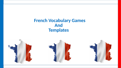 Introductory French games