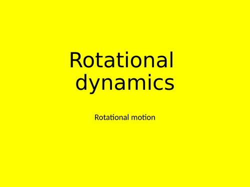 A Level Physics - Engineering option chapter 1 - Rotational mechanics
