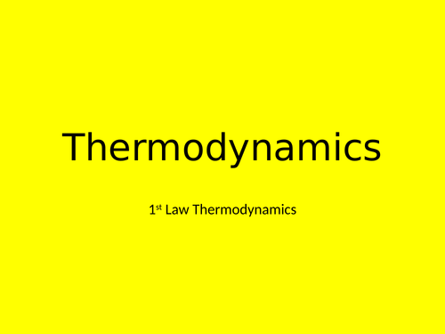 A Level Physics - Engineering option chapter 2 - Thermodynamics