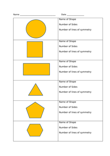 Properties of 2D shapes , Year 2 , White Rose Maths